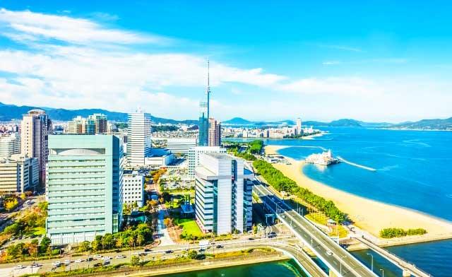 広島から博多百道浜
